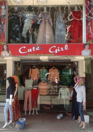 Cute Girl exclusive western showroom