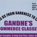 Gandhi's Commerce Classes