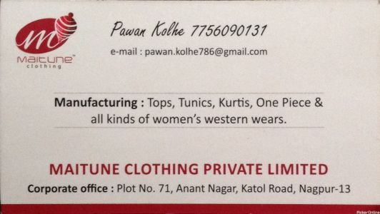 Maitune Clothing Private Limited