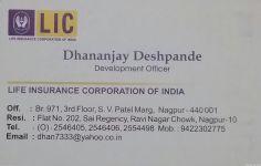 Dhananjay Deshpande LIC Agents