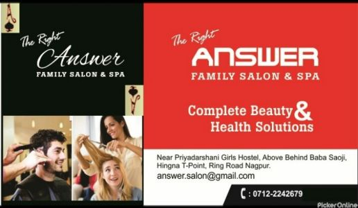The Right Answer Family Salon And Spa