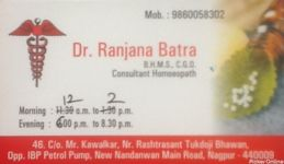 Dr.Ranjana Batra