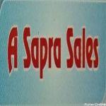 A Sapra Sales